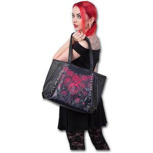 Borsa Spiral. Blood Rose. Tote Bag Top Quality Pu Leather Studded