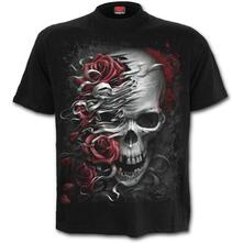 T-Shirt Unisex Tg. L Spiral. Skulls N Roses Black