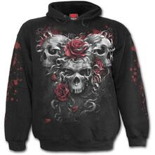 Felpa Con Cappuccio Unisex Tg. M Spiral. Skulls N Roses. Hoody Black