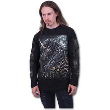 Maglia Manica Lunga Unisex Tg. XL Spiral. Dark Unicorn Black