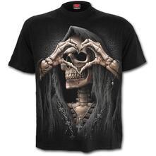 T-Shirt Unisex Tg. 2Xl Spiral. Dark Love Black