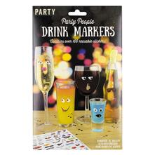 Marcatori per Bicchieri Party People Drink Markers