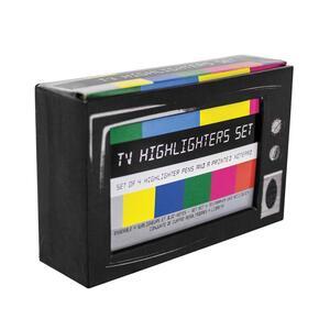 Set 4 Evidenziatori. Tv Highlighter Desk Set