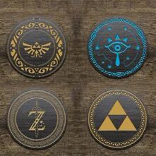 Set Sottobicchieri Zelda. Logo'S Metal