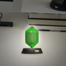 Lampada Zelda. Green Rupee 3D