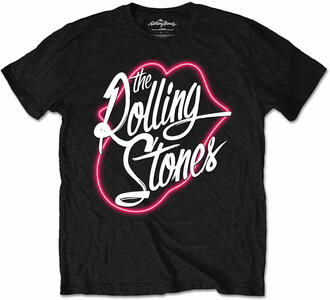 Rolling Stones. Neon Lips Script