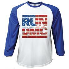 T-Shirt unisex Run Dmc. Raglan Baseball Americana Large