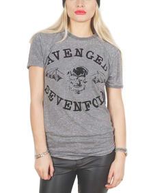 T-Shirt unisex Avenged Sevenfold. Flocked Classic Death Bat