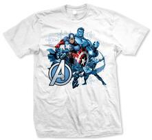 T-Shirt unisex Avengers. Group Assemble Bianco