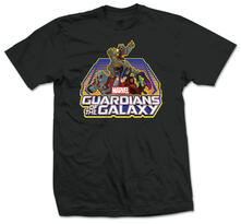 T-Shirt unisex Guardians Of The Galaxy. Group Logo Nero