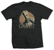 T-Shirt unisex Guardians Of The Galaxy. Groot Nero