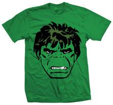T-Shirt unisex Marvel Comics. Hulk Big Head Verde