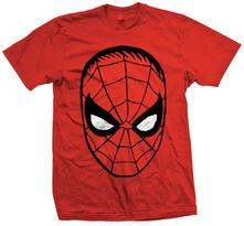 T-Shirt unisex Marvel Comics. Spider Man Big Head Rosso