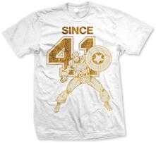 T-Shirt unisex Marvel Comics. Cap Since 41  Bianco