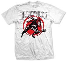 T-Shirt unisex Marvel Comics. Black Widow Simple Bianco