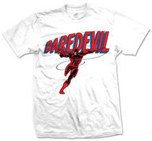 T-Shirt unisex Marvel Comics. Daredevil Logo Bianco