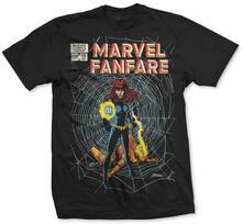 T-Shirt unisex Marvel Comics. Marvel Fanfare Bw Nero