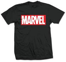T-Shirt unisex Marvel Comics. Marvel Box Logo Nero