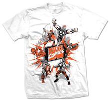 T-Shirt unisex Marvel Comics. Marvel Montage 2 Bianco