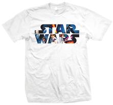 T-Shirt unisex Star Wars. Space Montage 3 Bianco