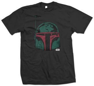 T-Shirt unisex Star Wars. Boba Head Nero