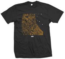T-Shirt unisex Star Wars. Chewbacca Nero