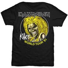 T-Shirt Iron Maiden Men's Tee: Killer World Tour 81