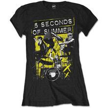 T-Shirt Donna 5 Seconds Of Summer. Live!