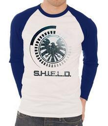 T-Shirt unisex Marvel Comics. Raglan/Baseball S.H.I.E.L.D. Symbol