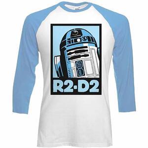 Maglia manica 3/4 Star Wars. R2-D2 Block Raglan Baseball
