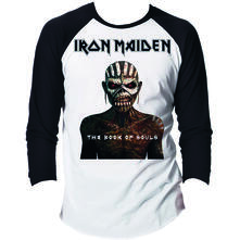 T-Shirt unisex Iron Maiden. Raglan/Baseball Book of Souls