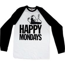 T-Shirt unisex Happy Mondays. Raglan Baseball Logo