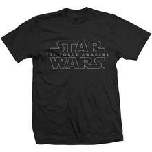 T-Shirt unisex Star Wars Force Awakens Logo Mens black