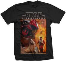 T-Shirt unisex Star Wars Dameron Composition Mens black