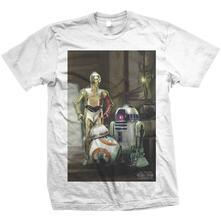 T-Shirt unisex Star Wars. Three Droids