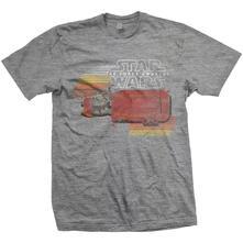 T-Shirt unisex Star Wars Rey Speeder Retro Mens Grey