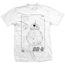 T-Shirt unisex Star Wars BB-8 Tech Mens White