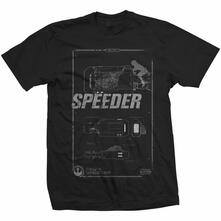T-Shirt unisex Star Wars Rey's Speeder Tech Mens Black