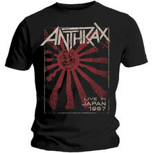 T-Shirt unisex Anthrax. Live in Japan