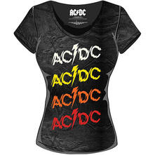T-Shirt Donna AC/DC. Powerage Repeat
