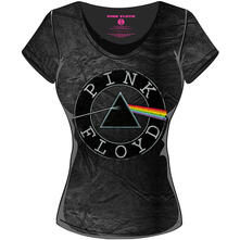 T-Shirt donna Pink Floyd. Acid Wash Vintage Circle Logo