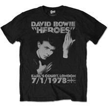 T-Shirt unisex David Bowie. Heroes Earl's Court