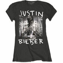 T-Shirt Donna Justin Bieber. Purpose Logo Black
