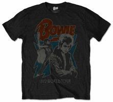 T-Shirt unisex David Bowie. 1972 World Tour Mens Black