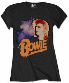 T-Shirt unisex David Bowie. Retro Bowie 2 Ladies Black