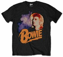 T-Shirt unisex David Bowie. Retro Bowie 2 Mens Black