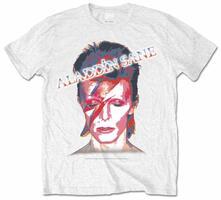 T-Shirt unisex David Bowie. Aladdin Slane Mens White