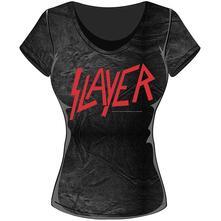 T-Shirt Donna Slayer. Classic Logo