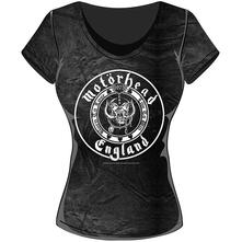 T-Shirt Donna Motorhead. England Seal