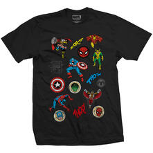 T-Shirt Unisex Marvel Comics. Random Badges